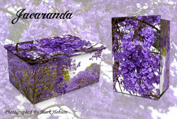 Mauve Carpet Of Jacaranda Cremation Urn