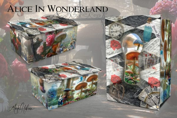 Inspired By Alice In Wonderland Urn