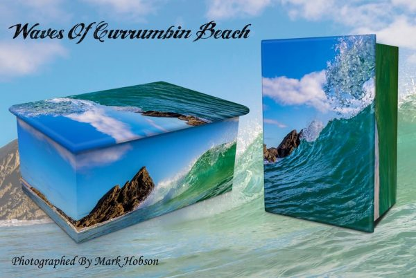 Waves Of Currumbin Beach Cremation Urn