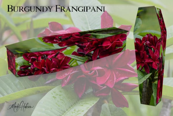 Frangipani Burgundy Coffin