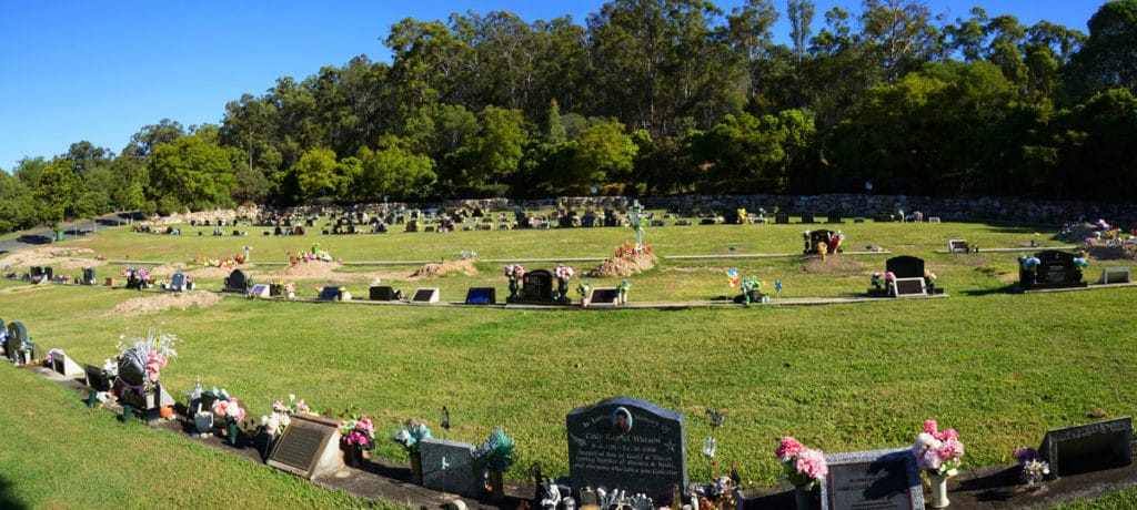 A cemetery on the Gold Coast