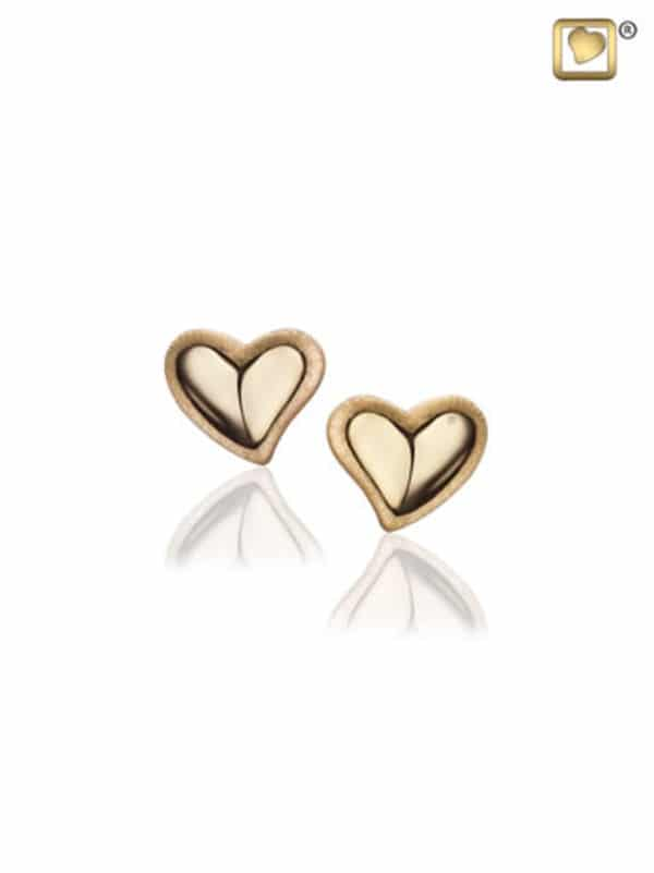 Gold Heart Earings/ Necklace AUNLE1001