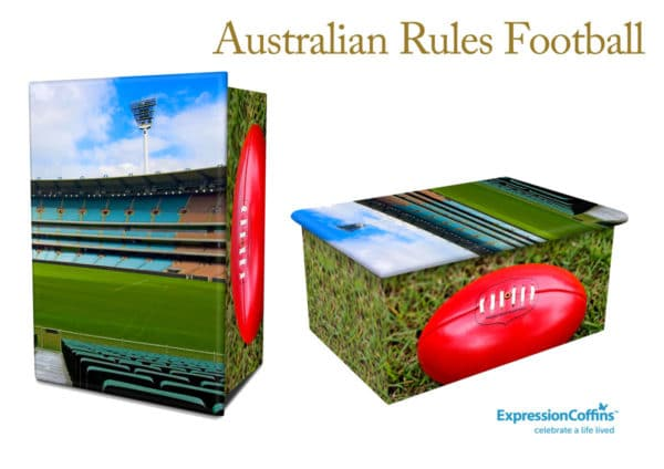 Expression Coffins Australian Rules Football Cremation Urn