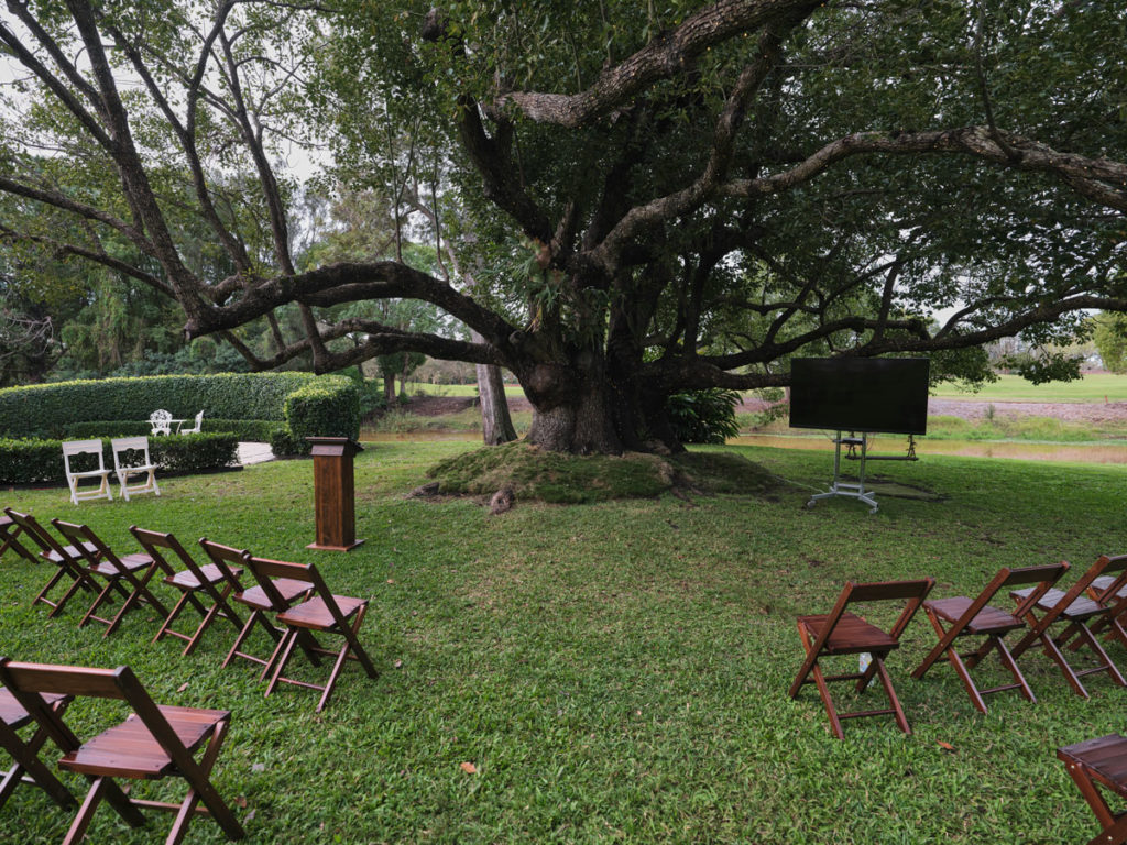A funeral service in a park on the Gold Coast